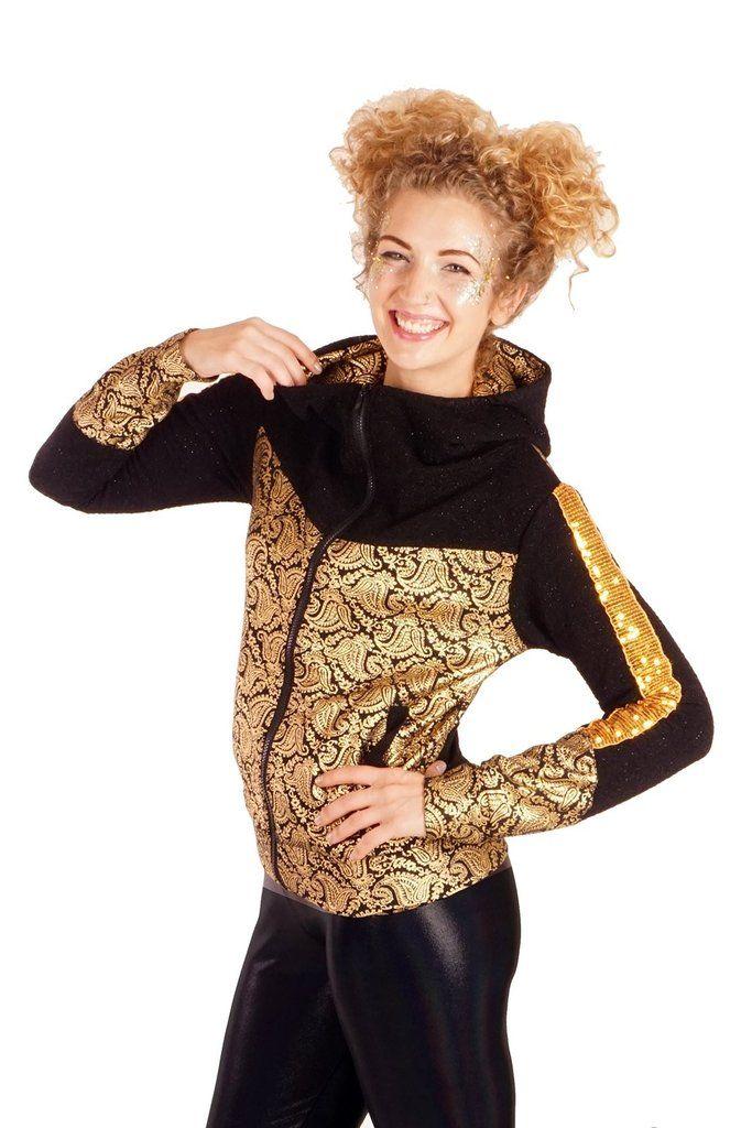 State of Disarray! Gold Paisley Retro Space - Jacket  #stateofdisarray #recklessfashionrevolution #festivalfashion #festivaloutfit #streetstyle #fashiondesigner #summerstyle #ootd #futureretro #slimcuthoody #hoody #animalprint #metallic #fashionweek #ravewear #clubkid #edm #secretgardenparty #burningman #boomtown #coachella #glastonbury #ibiza #shambala #rainbow #psychedelic #80's #fancydress #dressup #costume #statementfashion #harajukufashion #kawaiifashion #cosplay #kawaii #goldpaisley…