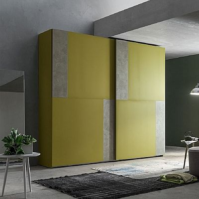 Contemporary green 'Moliere' wardrobe. Beautiful piece and colour. My Italian Living.