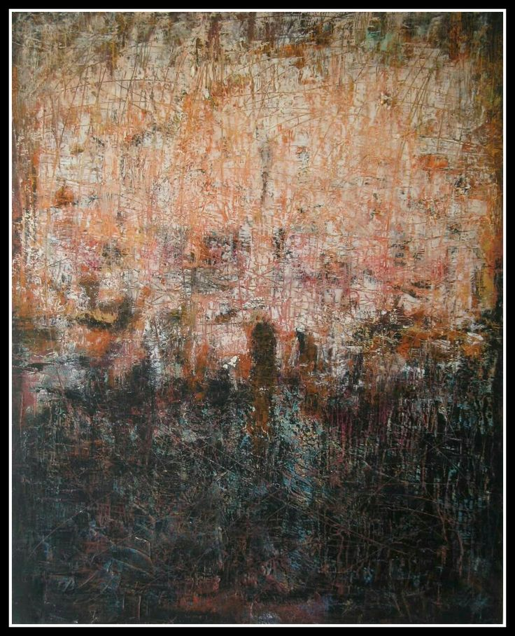 """""""Ricordi sepolti"""" 100 × 80  Oil and cold wax on panel"""