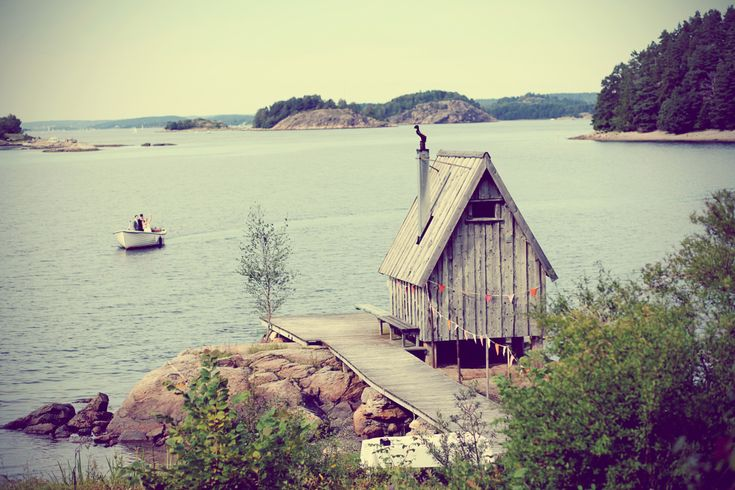 Small outdoor sauna