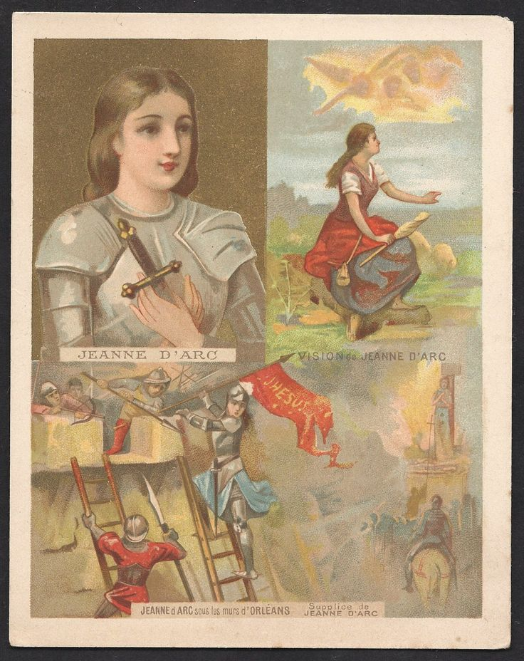 St. Joan of Arc Old Large French Lithograph Holy Card. https://img0.etsystatic.com/045/1/5510809/il_fullxfull.678852768_r810.jpg