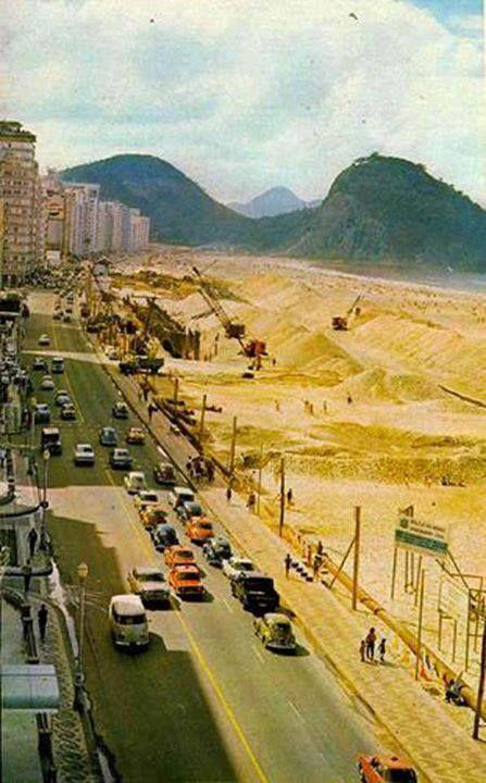 ALARGAMENTO DA AV. ATLÂNTICA - COPACABANA ANOS 70