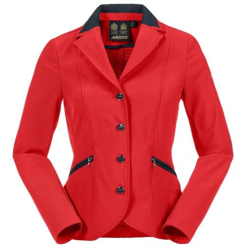 Musto Ladies Derby BR2 Red Show Jacket | Equestrian Clothing |