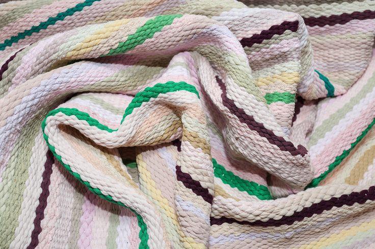 "#carpet  #striped  #carpeting  fragment woven track  ""Apple blossom"""