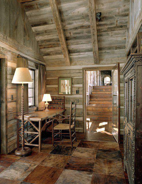 21 Rustic Log Cabin Interior Design Ideas #LogHomeDecoratingTip ...