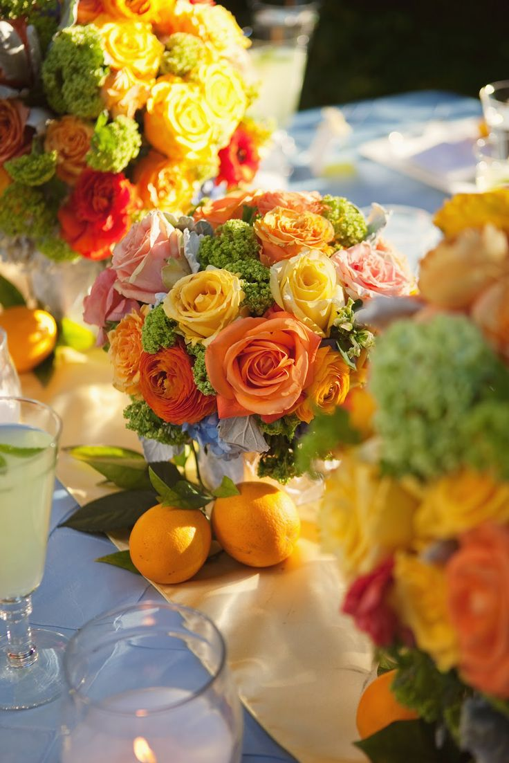 Orchard Wedding - Citrus Wedding Colors