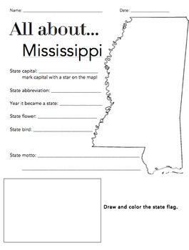 The Wright Ladies present the Mississippi State Facts Worksheet! This is a great way for students to begin learning about their state or other states. Included in the download is a PDF version of the worksheet and an answer key.