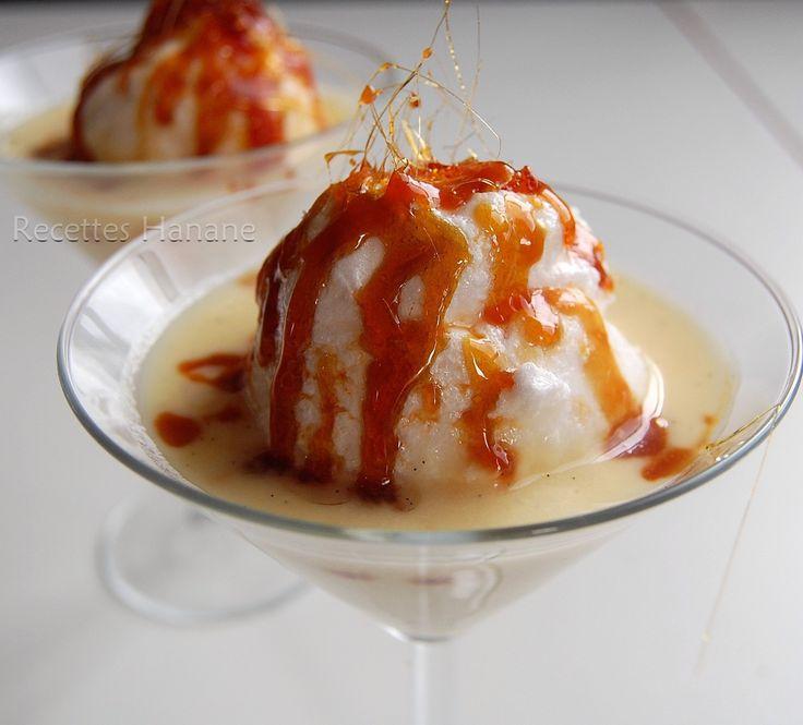 Une recette facile de ce dessert gourmand, les blancs d'oeufs ont été cuits au micro ondes, ce qui simplifie beaucoup la préparation... l es ingrédients: 400 ml de lait 3 oeufs 1 gousse de vanille (ici clic) 90g de sucre pour le caramel: 60g de sucre...