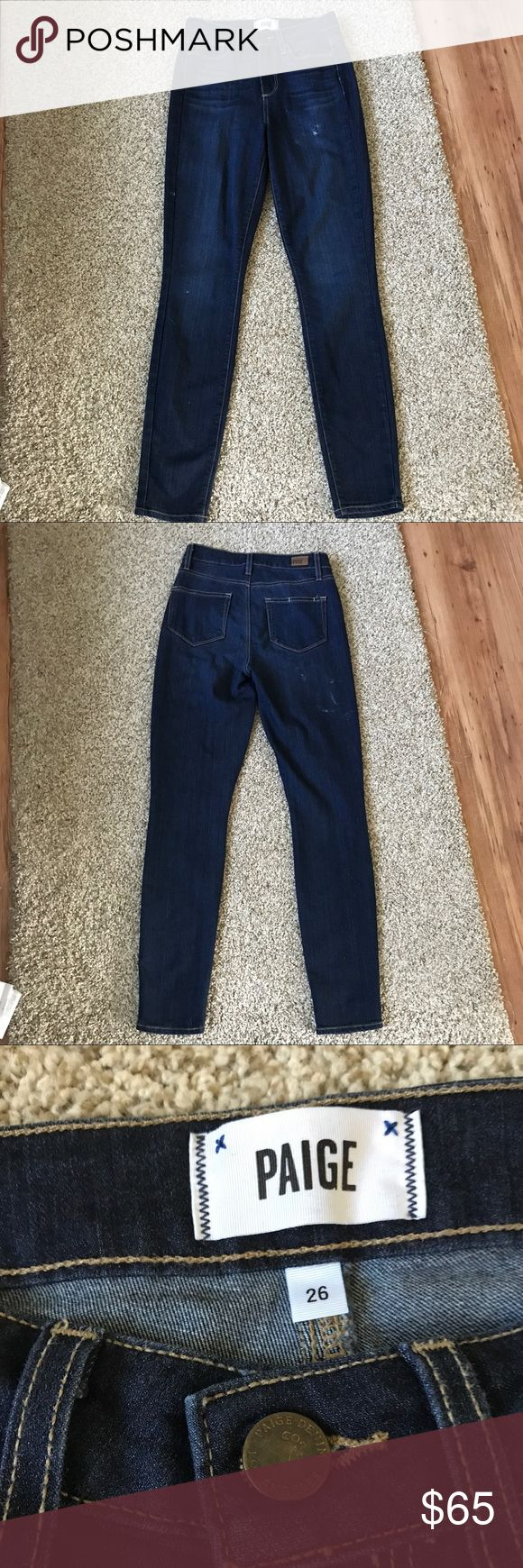 """PAIGE Denim Margot Ultra Skinny Alanis Dark Jeans Paige Denim Margot Ultra Skinny Alanis Jean in size 26. Jeans have some distressed details on the front and back. made in the USA. 📏 Measurements: 29"""" inseam, 10"""" rise, 13"""" across waist. ❣️ REASONABLE offers are accepted! PAIGE Jeans Skinny"""