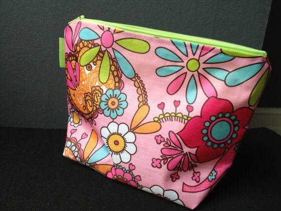 Bright wash bag by Rhodalily on Etsy, £12.00