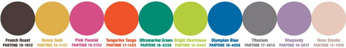 Fall 2012 women's fashion trends colors - Pantone Fashion Color Report Fall 2012