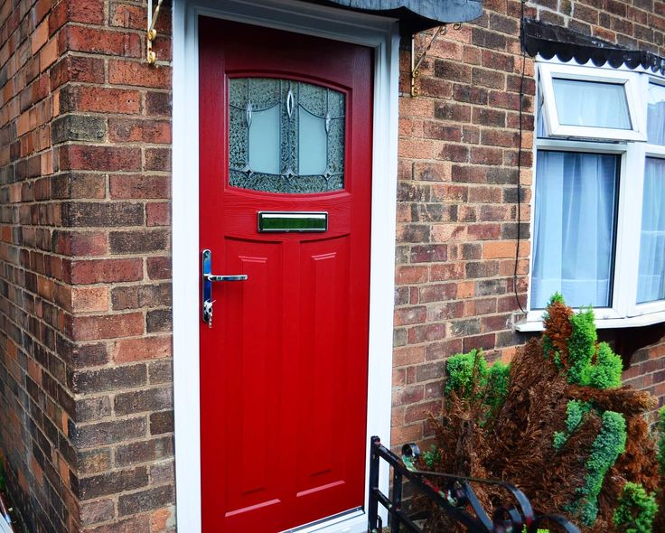 Red Door With Glass : Best s style front doors images on pinterest