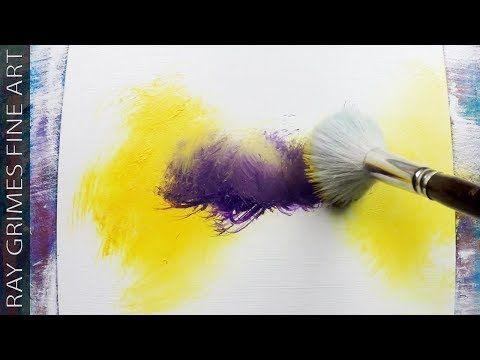 Light Landscape / 165 / Relax / Yellow and Purple / Abstract Painting / Demonstration – YouTube