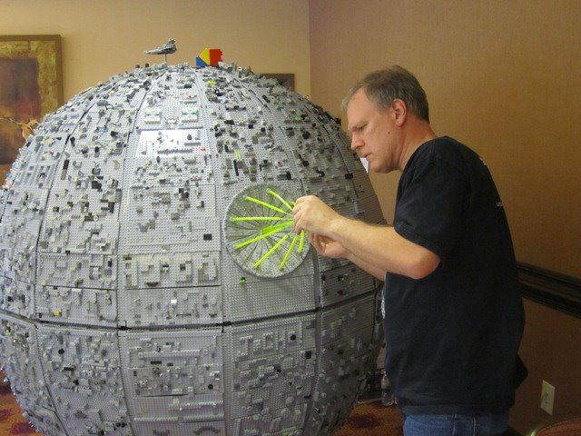 The 5-foot, 200 lb LEGO Deathstar by City Blocks - Tacoma's Brick Art Center