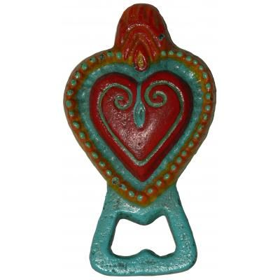 Sacred Heart Bottle Opener  Mexican inspired design, made from Cast Iron