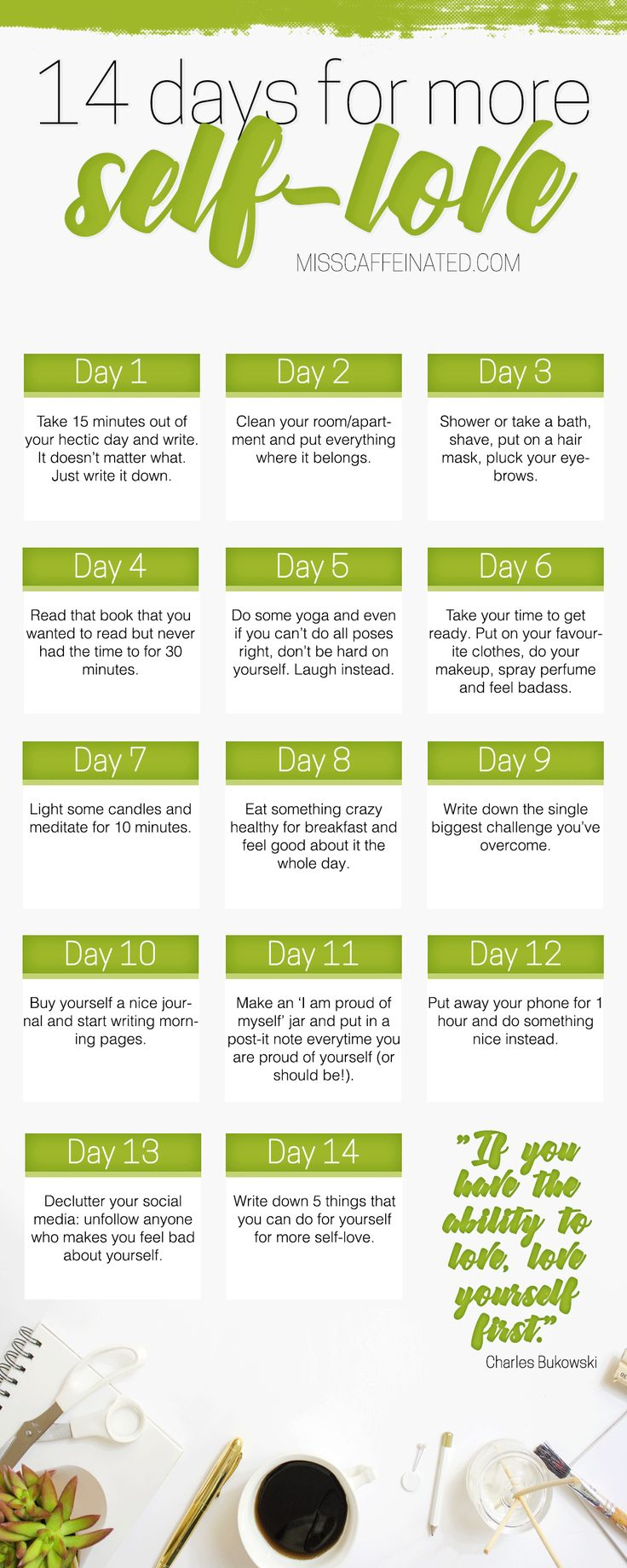 Do you love yourself? I created a challenge that you can do in 14 days for more self-love. Try it out and see for yourself!