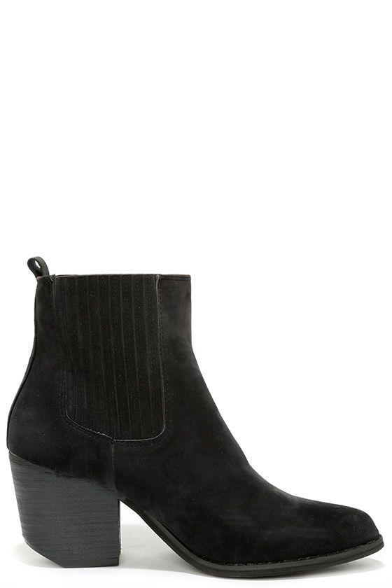 Wear It Well Black Pointed Ankle Boots at Lulus.com!
