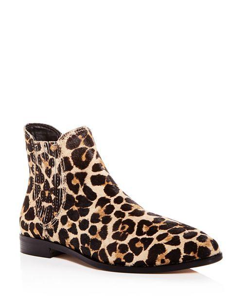 a7f753a1abd Rebecca Minkoff - Women s Madysin Too Leopard Print Calf Hair Pointed Toe  Booties