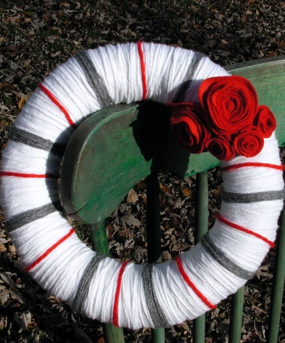 Ohio State Buckeyes Wreath @Cody Towner