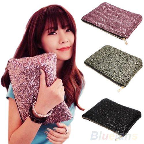 Hot Sparkling Sequins Dazzling Clutch Evening Party Bag Handbag Bling Purse BE7A #atlantamart2005au #Clutch