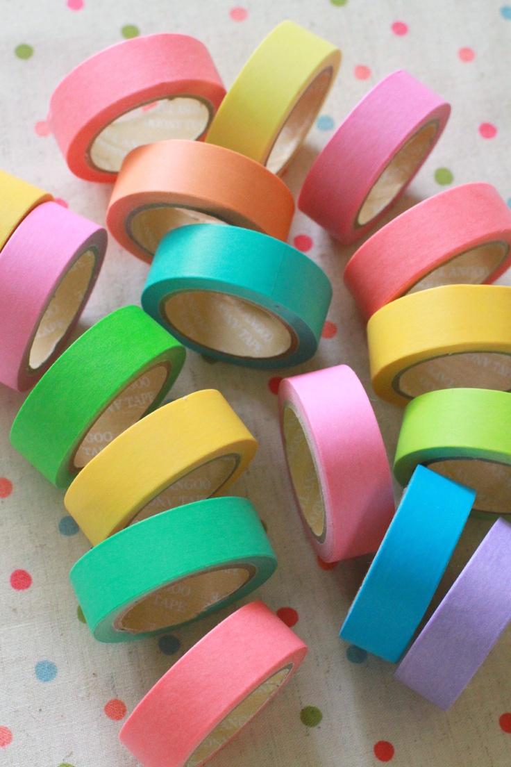 Pantone, candy coloured washi tapes at Chibi Run