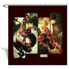 Deadpool Art Panel 2 Shower Curtain