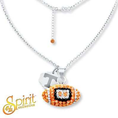 University of Tennessee Football Necklace Sterling Silver