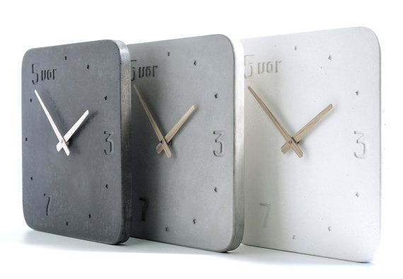 Clock in concrete by Swedish Forsberg Form