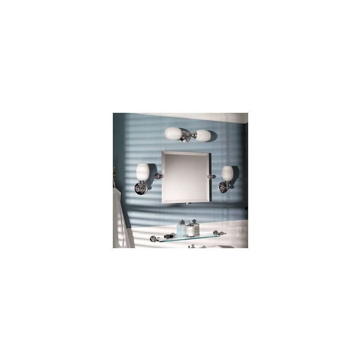 """Ginger 0141N Frameless 20"""" x 20"""" Pivoting Mirror from the City 212 Collection"""
