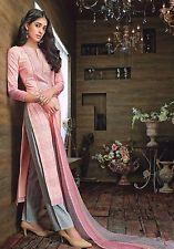 2 Indian Pakistani Designer Ethnic Straight Salwar Kameez Cotton Salwar Suit3521