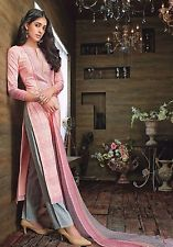 2 Indian Pakistani Designer Ethnic Straight Salwar Kameez Cotton Salwar Suit3521