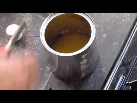 Preparación cera virgen para madera - YouTube