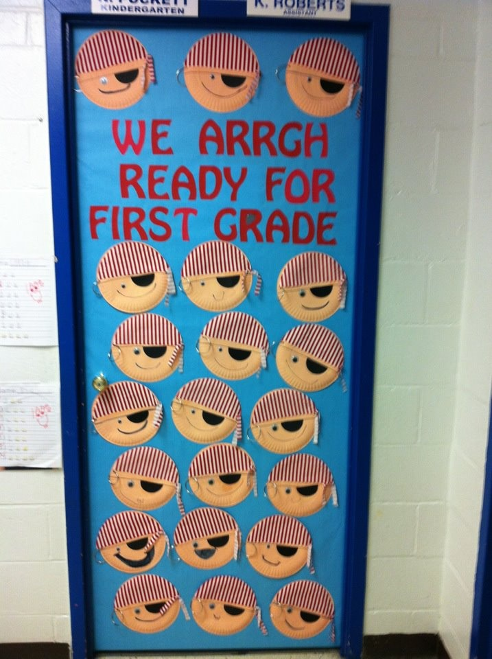 Pirate door! We Arrgh Ready For First Grade!