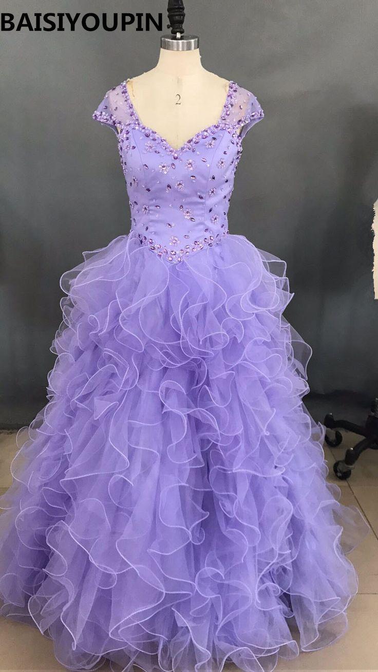 Light Purple Quinceanera Dresses 2016 Vestidos De Debutante 15 Anos Baratos Ball Gown Sweet 16 Princess Dresses #Affiliate