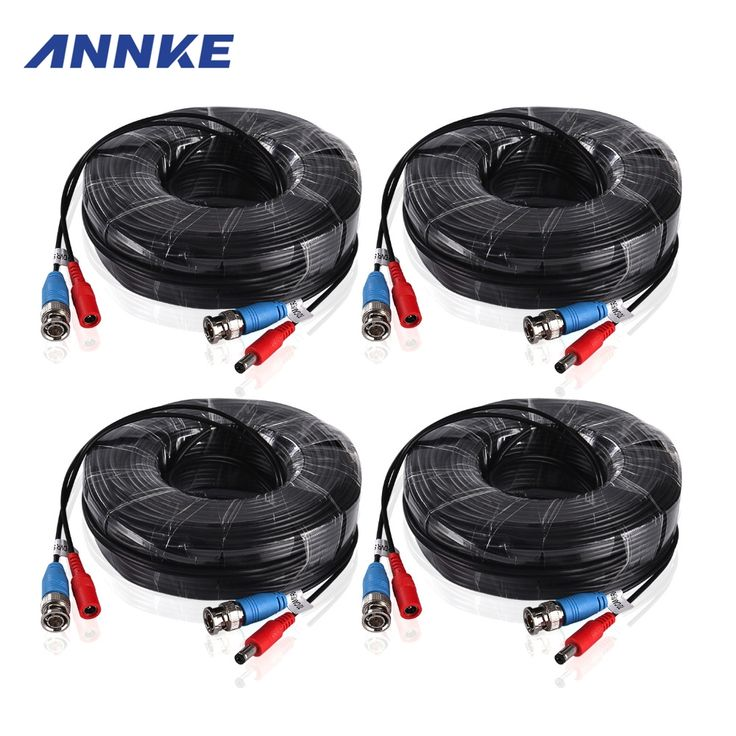 23.99$  Buy now - http://ali2dc.shopchina.info/go.php?t=32677809459 - ANNKE 4PCS a Lot 30M 100 Feet BNC Video Power Cable For CCTV AHD Camera DVR Security System Black Surveillance Accessories 23.99$ #buymethat