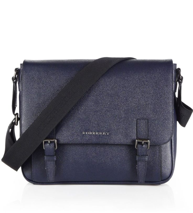 Burberry Grained Leather Messenger Bag Navy            $219.00