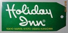 HOTEL HOLIDAY INN JAPAN LUGGAGE LABEL DECAL KOFFERAUFKLEBER ETIQUETTE