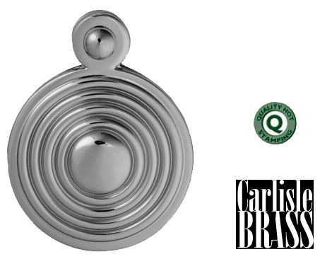 QUEEN ANNE REEDED COVERED STANDARD PROFILE ESCUTCHEONS, POLISHED  OR SATIN CHROME - M1000 None