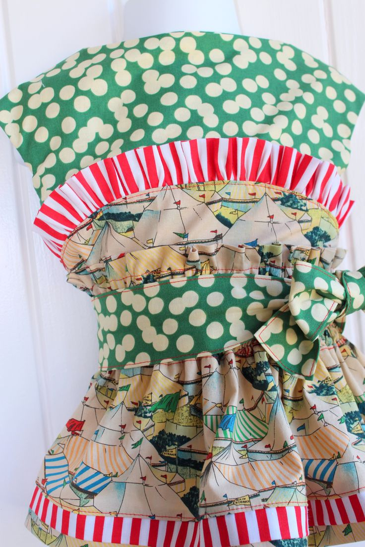 Fun Fairground/Circus inspired dress Made from rare out of print Shelburne Circus fabric.
