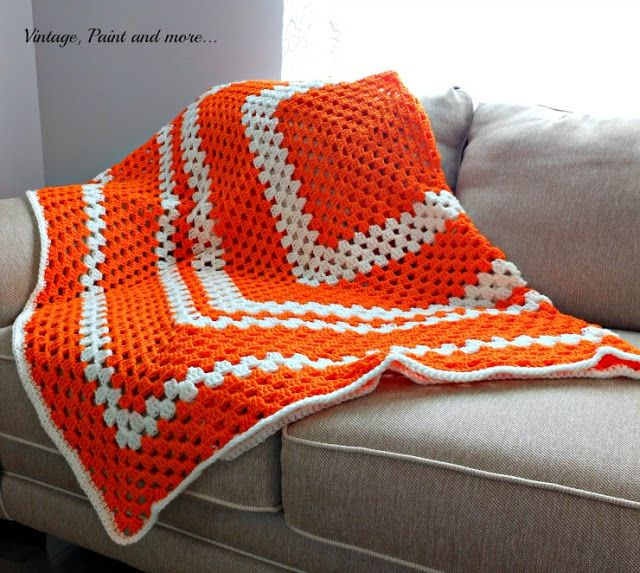 Vintage, Paint and more... Crochet Granny Square Afghan