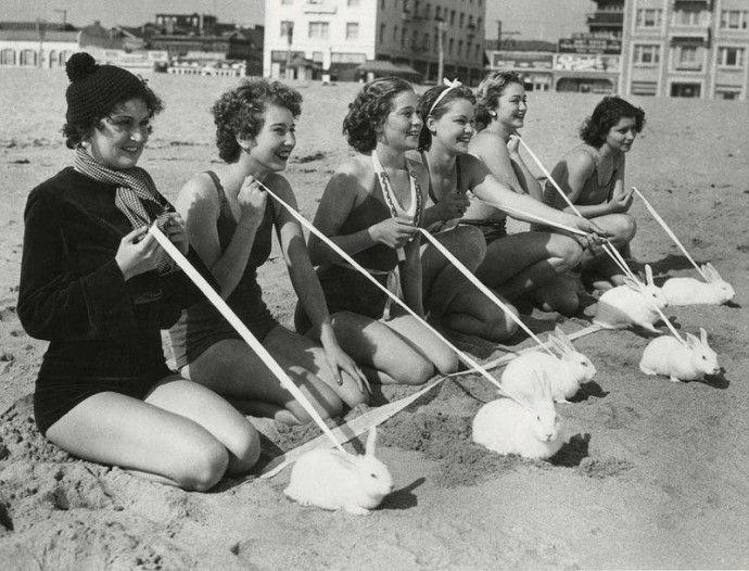 Пляжные развлечения вековой давности