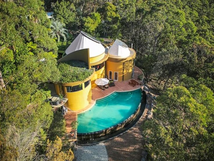 Think outside the modern house box. How about a castle instead? This eco-friendly castle has large glass skylights, spacious entertainment rooms, pool, gardens and sits on seven acres of bushland in Dural, NSW. http://rea.to/2ffze #ausliveshere #architecture #design #home