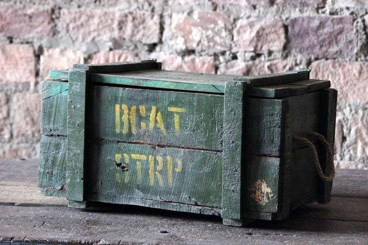 Tana Wooden Antique 'Military' Storage Box