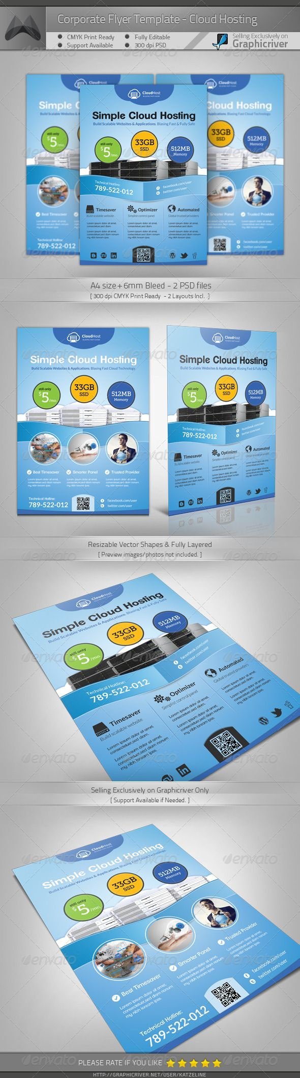 best images about creative flyer template cloud hosting service a4 flyer template
