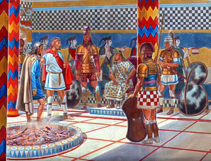 Achaeans visiting the Kings Palace at Thebes 1250 BCE
