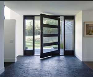 Best 25 modern front door ideas on pinterest modern for Extra wide exterior doors