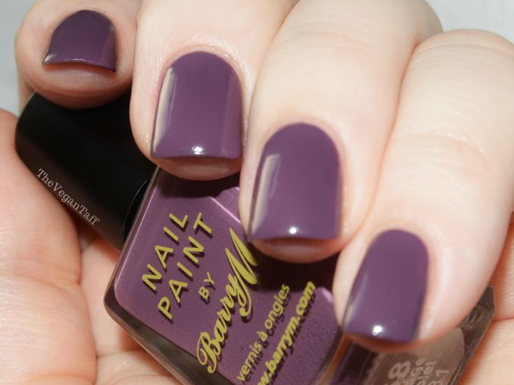 Manicure Monday | Barry M - Vintage Violet | The Vegan Taff