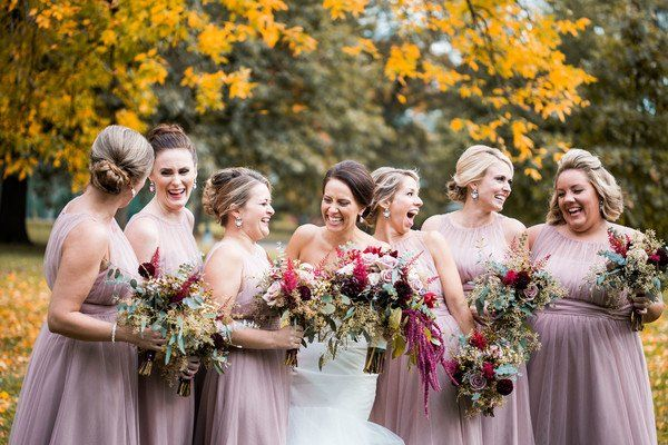 Brittany And Casey S Wedding In Columbus Ohio Light Purple Bridesmaid Dresses Fall Bridesmaid Dresses Purple Bridesmaid Dresses