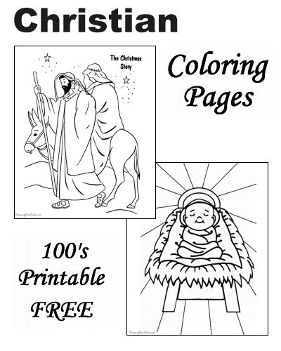 1000+ images about Christian Christmas Coloring Pages on ...