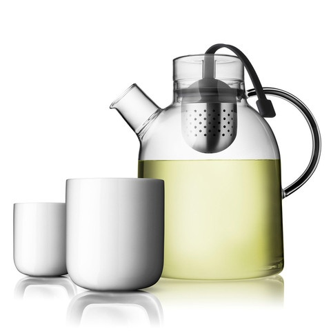 Kettle Teapot with Tea Egg and 2 Thermo Cups  by Menu, Click to Experience.